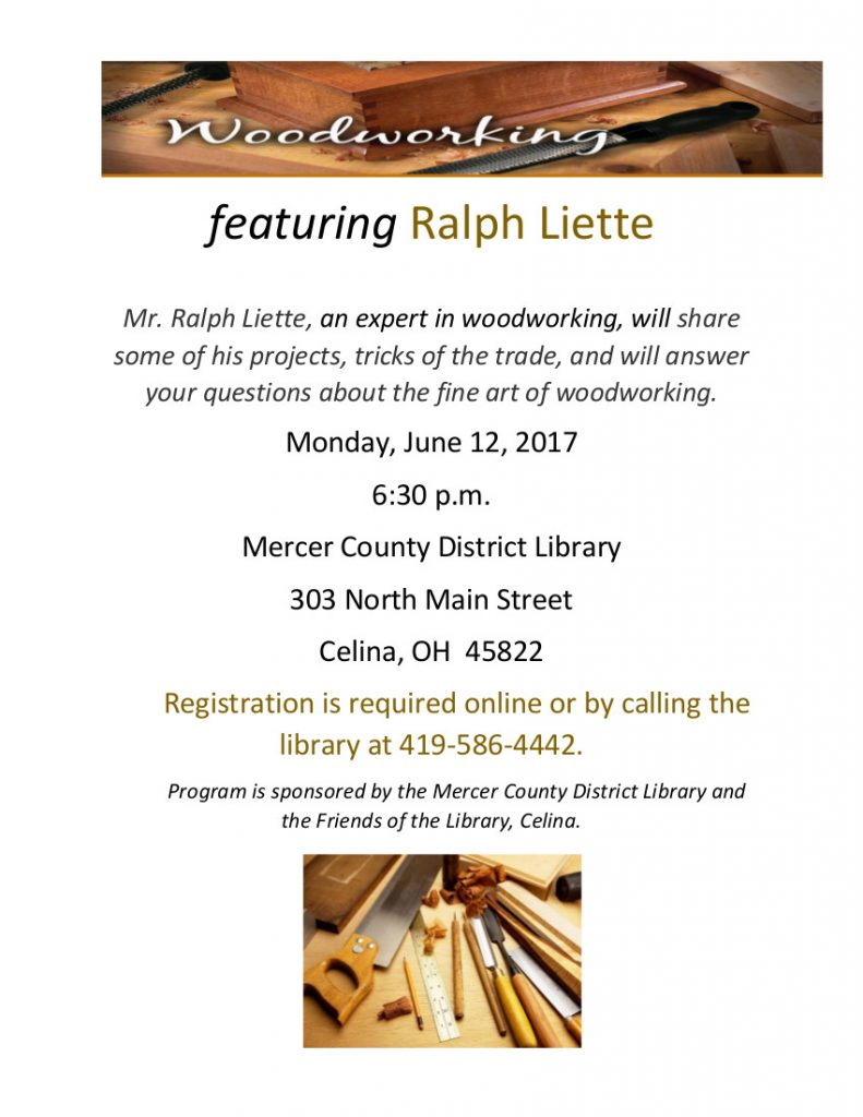 Woodworking with Mr. Liette @ Celina Library
